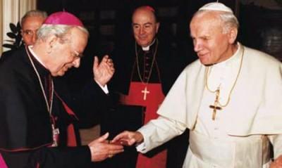Дон Альваро, перший наступник св. Хосемарії, з Йоаном Павлом ІІ