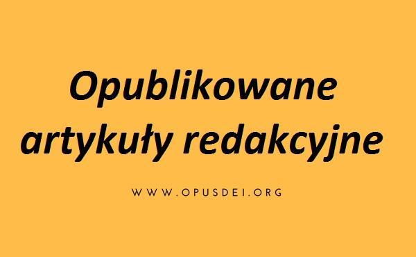 Opus Dei - Opublikowane artykuły redakcyjne