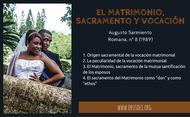 El Matrimonio, sacramento y vocación