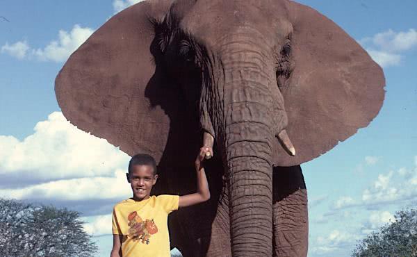 L'homme qui avançait avec les éléphants (il sera bientôt prêtre)