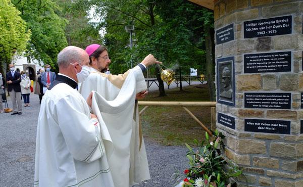 Opus Dei - De heilige Josemaría gehuldigd in Banneux
