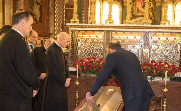 Pochówek śp. bp Echevarríi w kościele prałackim