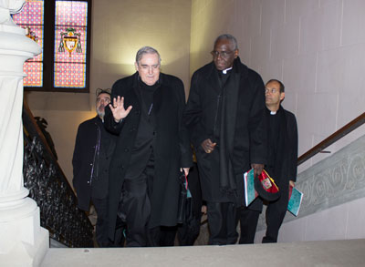 El Card. Lluís Martínez Sistach, arquebisbe de Barcelona i el Card. Robert Sarah, president del Pontifici Consell Cor Unum.