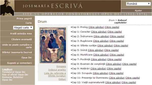 www.escrivaworks.org auf bulgarisch und rumänisch