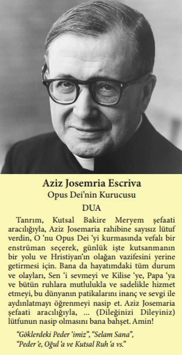 Oração de S. Josemaria em turco