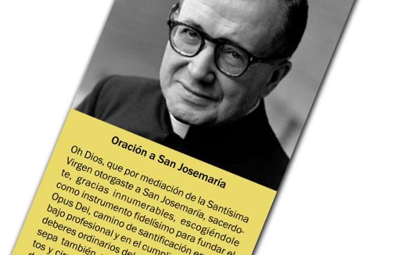 Opus Dei - Modlitba k svätému Josemaríovi