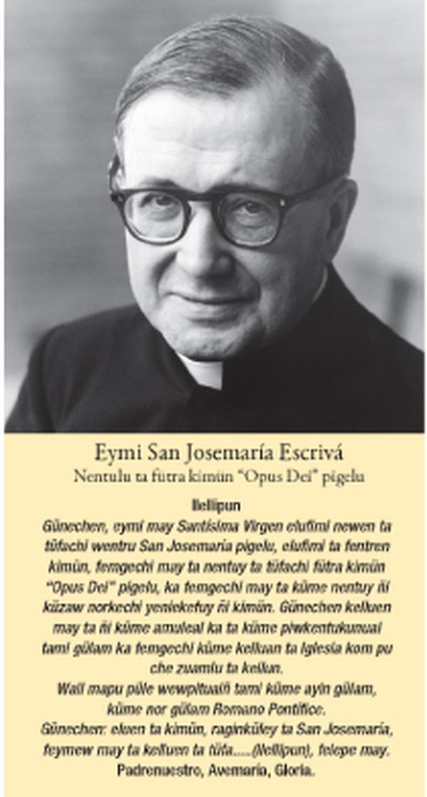 L'image de saint Josémaria en mapuche