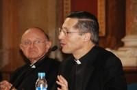 D'esquerra a dreta, Dr. Joan Garcia Llobet, Director de les Jornades i el Dr. Bernardo Estrada, Professor de la Facultat de Teologia de la Universitat Pontifícia de la Santa Creu de Roma.