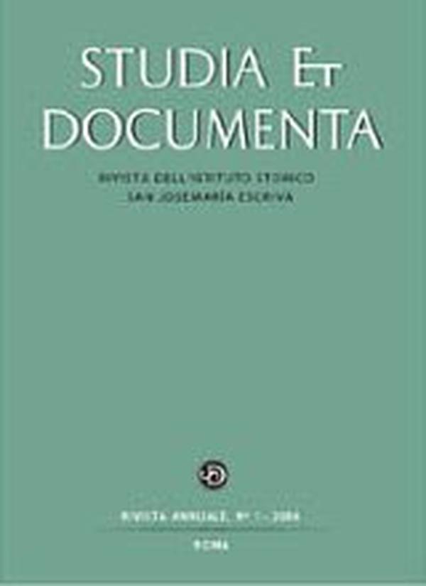 """""""Studia et Documenta"""" publie son 10ème  volume"""