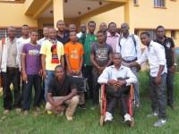 Avec quelques jeunes qui fréquentent le Centre d'Etudes Nolanga