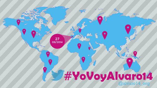 La cuenta de Twitter preguntó: Queremos conocer tu historia, ¿nos ayudas? #YoVoyAlvaro14