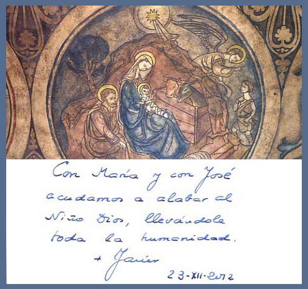 Felicitação de Natal, de D. Javíer Echevarría, para os leitores