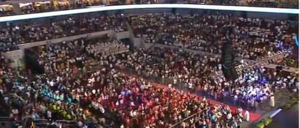 Incontro del Papa con le famiglie a Manila