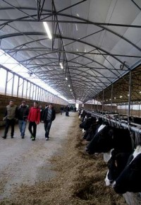 Alumnos de Fonteboa visitan una granja en Francia