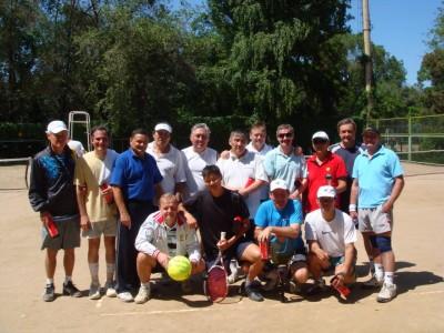 Con el grupo de tenis, el verano pasado