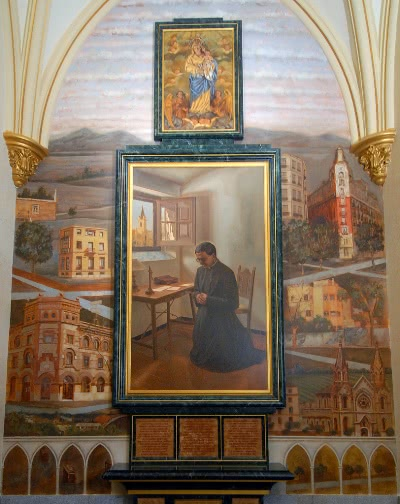 Cuadro sobre la fundación del Opus Dei (Iglesia de Nuestra Señora de los Ángeles, Madrid)