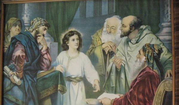 Quinto mistero gaudioso. Il Bambino perduto e ritrovato nel tempio