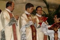 Durante la Misa por los 50 años de matrimonio