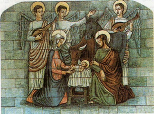 3&deg; myst&egrave;re joyeux:<br> La naissance de Jésus à Bethléem
