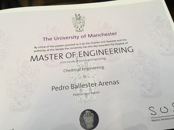 Opus Dei - Pedro Ballester's Graduation