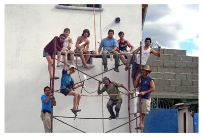 Grupo de pintura en El Bolsón 2011