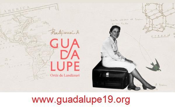 Plakaty na beatyfikację Guadalupe