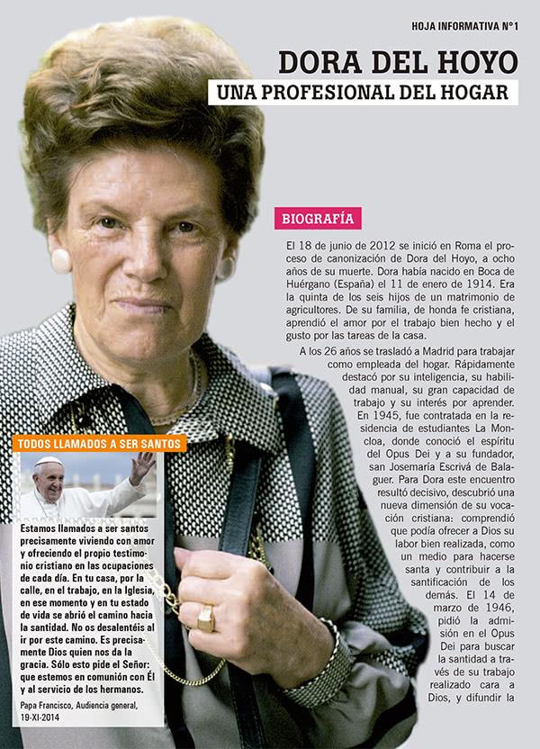 Opus Dei - Hoja informativa de Dora del Hoyo