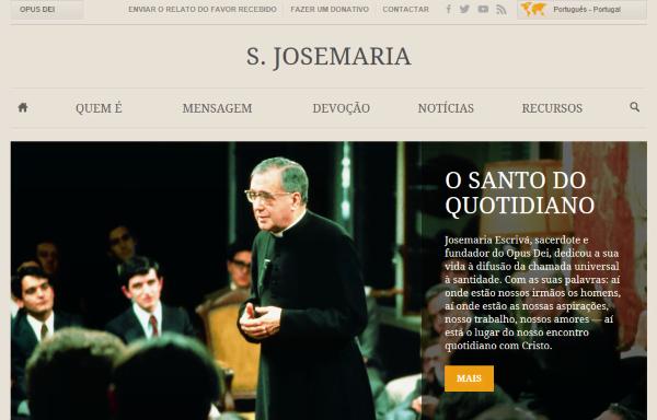 Novo site sobre S. Josemaria