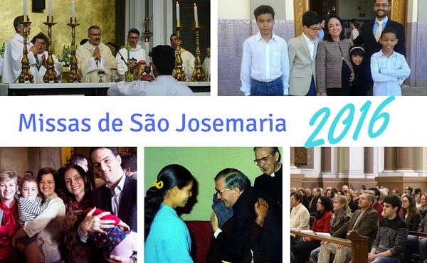 Opus Dei - Missas em honra de São Josemaria em 2016