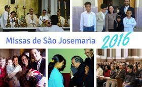 Missas em honra de São Josemaria em 2016