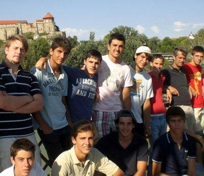 Parte del grupo que trabajó en Esztergom (Hungría)