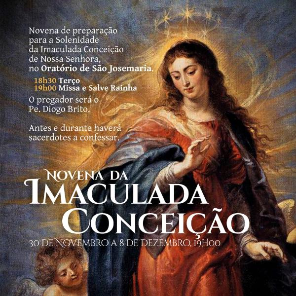 Novena da Imaculada Conceição no Oratório de S. Josemaria (Lisboa) - 2019