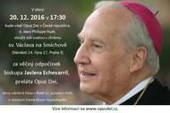 Mše za Mons. Javiera Echevarríu v úterý v 17.30, kostel sv. Václava na Smíchově