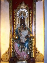 Imagen de la Madre de Dios de Montserrat, que Montse tenía en su habitación