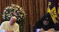إعلان مشترك للبابا فرنسيس والكاثوليكوس كاريكين الثاني