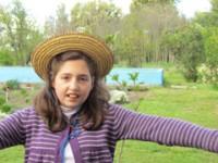 Su hija Trini, una linda joven de 13 años.