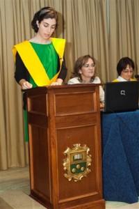 A decana do Colexio Maior, Rosa González