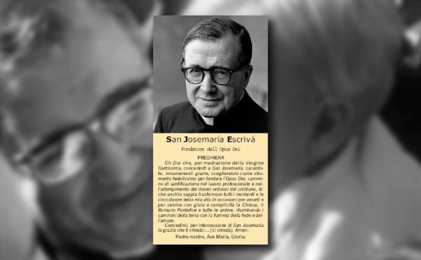 Opus Dei - La preghiera a san Josemaría