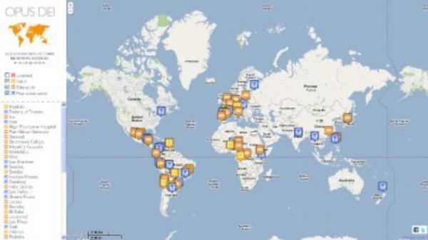 Mapa interactivo sobre algunas iniciativas sociales