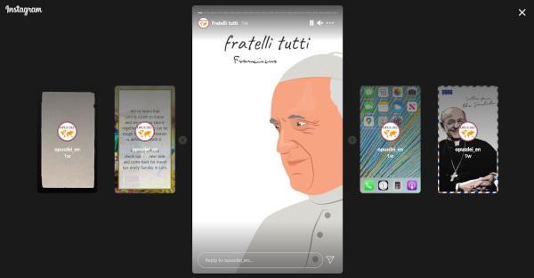 Opus Dei su Instagram in tre lingue (inglese, spagnolo, portoghese)