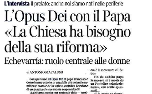 Opus Dei - Het Opus Dei met de paus
