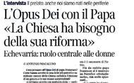 Het Opus Dei met de paus