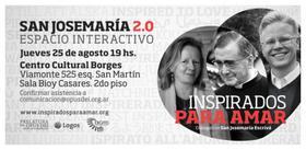 Espacio interactivo San Josemaría 2.0 en el Centro Cultural Borges