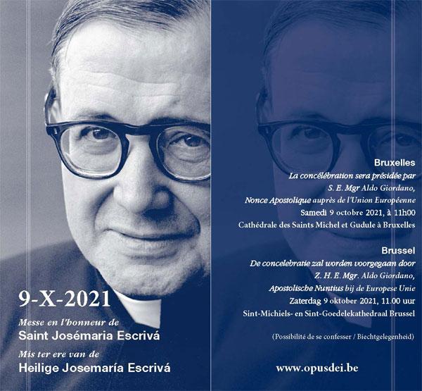 Opus Dei - Mis ter ere van de heilige Josemaría in Brussel