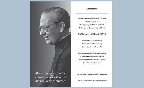 Opus Dei - Messe d'action de grâce à Luxembourg pour la béatification de Mgr Alvaro del Portillo
