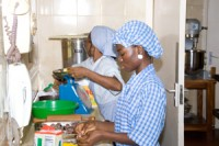 The School of Hotel and Catering prepares the girls from the village to get better jobs