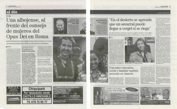 Opus Dei - Una albojense, al frente del consejo de mujeres del Opus Dei en Roma