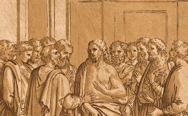 Cristo en el centro