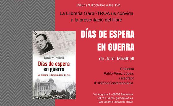 Opus Dei - Jordi Miralbell presenta un llibre sobre sant Josepmaria a Barcelona