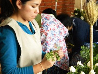 Lecciones de arreglo floral.